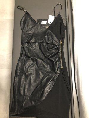 Fashionnova Vestido de cuero negro