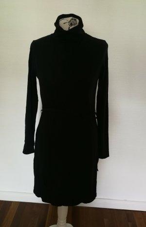 Schwarzes Kleid Rollkragen Armedangels M
