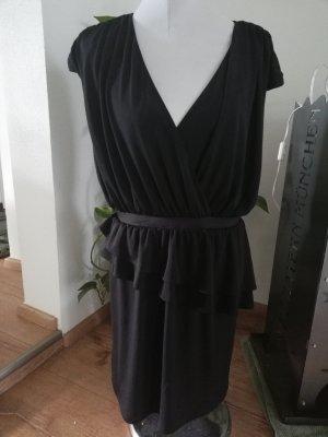 schwarzes Kleid Schößchenkleid Gr. 40