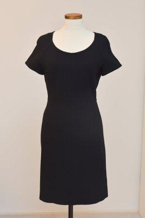 Strenesse Vestido de manga corta negro tejido mezclado