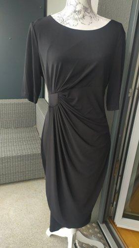 Schwarzes Kleid Stretch Gr. L seitlich gerafft wie neu