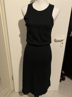 Stefanel Vestido de manga corta negro