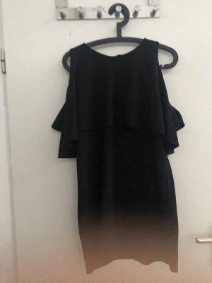 Zara Vestido estilo flounce negro