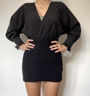 Schwarzes Kleid von ZARA mit Tweedrock