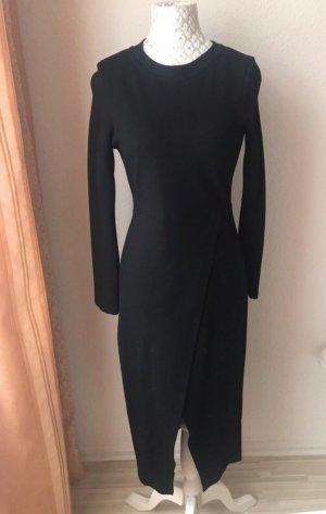 Schwarzes Kleid , vorne Öffnung & hinten lang