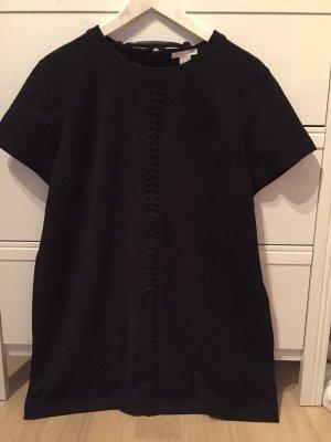 H&M Vestito in pelle nero Scamosciato