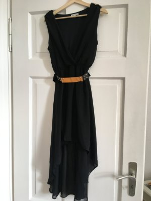 Charlotte Russe Cocktail Dress black-gold-colored polyester
