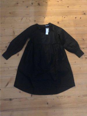 Schwarzes knielanges Kleid von pieces Gr. M