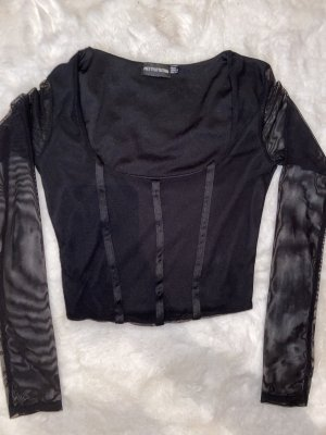 PrettyLittleThing Corsage Top black