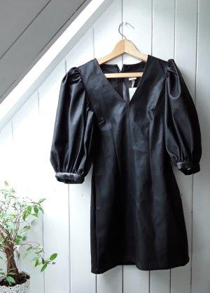 H&M Robe en cuir noir