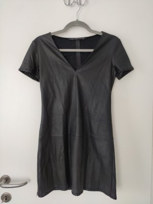 Zara Leather Dress black-anthracite