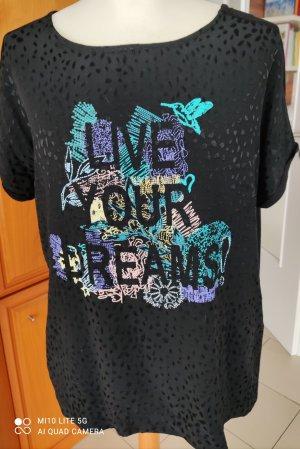 Schwarzes Kurzarm-Shirt von Bonita Gr. M