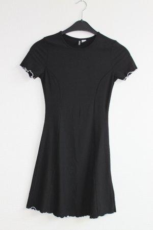 schwarzes Kurzarmkleid - H&M