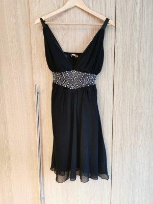 schwarzes kurzes Abendkleid