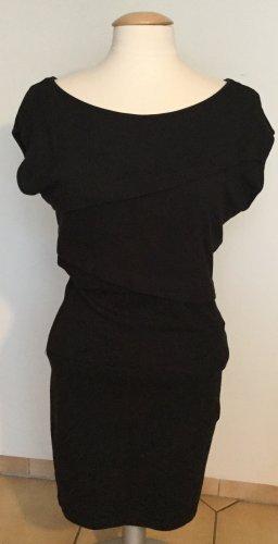 de.corp by Esprit Falda estilo lápiz negro tejido mezclado
