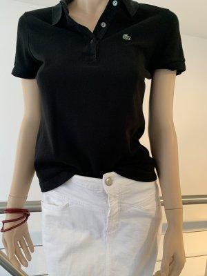 schwarzes Lacoste Poloshirt, Gr. 38 (franz. Originalgröße 40)