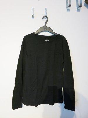Schwarzes langärmeliges Oberteil, ungetragen (2x)