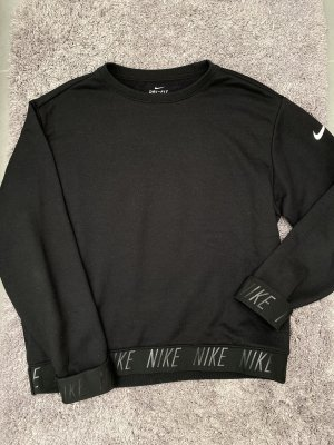 Schwarzes Langarm Oberteil dünner Pullover Nike