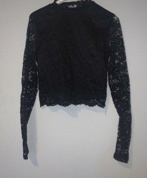Schwarzes Langarm Shirt