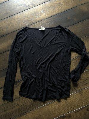 Schwarzes Langarm Shirt von H&M