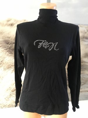 fen Turtleneck Shirt black-silver-colored cotton