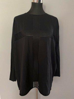 Schwarzes Langarmshirt von H&M Divided, Gr. S/M