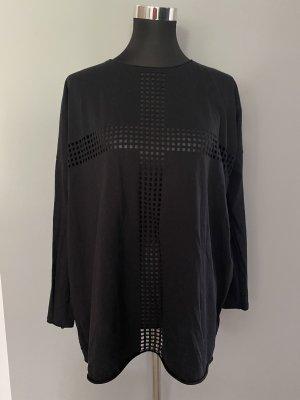 Schwarzes Langarmshirt von H&M, Gr. S
