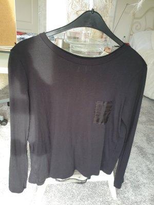 Schwarzes Langarmshirt von Stefanel in Grösse L