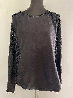 Schwarzes Langarmshirt von Zara W&B Collection, Gr. M