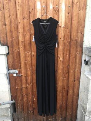 Schwarzes langes Abendkleid mit V-Ausschnitt by LAUNDRY BY SHELLI SEGAL
