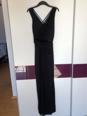 Schwarzes langes Abendkleid von Studio 75 in schwarz mit schönem Rückenausschnitt NEU