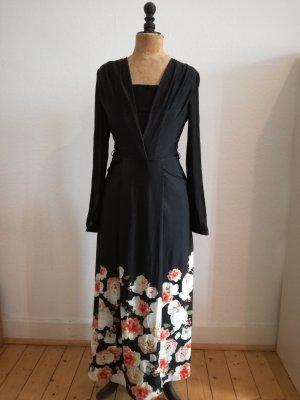schwarzes langes Kleid im Asialook von Mango Suit