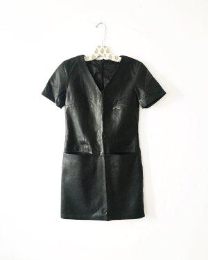 Vintage Skórzana sukienka czarny