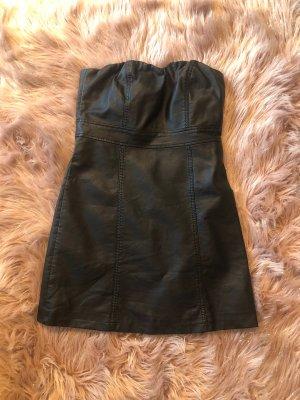 Kelly Bell Robe en cuir noir
