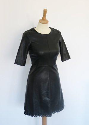 Reserved Vestito in pelle nero-argento