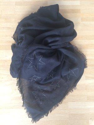 Neckerchief black-silver-colored