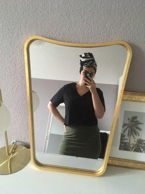 Mango Camiseta negro Lino