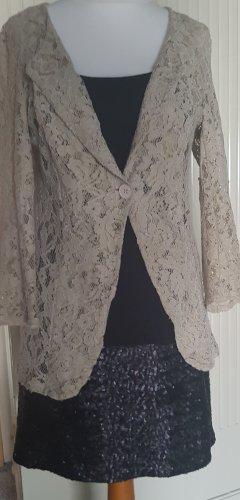 Schwarzes Longtop/Kleidchen von Cream mit Pailletten