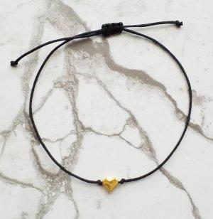 Braccialetto sottile nero-oro