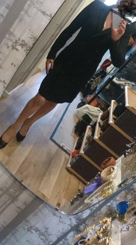 Heine Robe manteau noir polyester