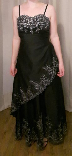 Schwarzes Maxi Abendkleid