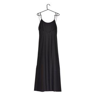 AnnVi Szyfonowa sukienka czarny