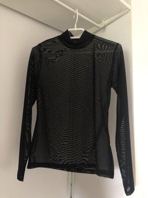 schwarzes Mesh langarm Shirt