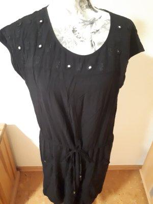 Schwarzes Midi-Kleid