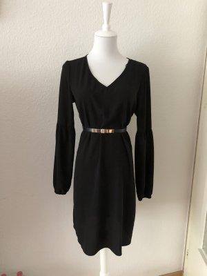 100% Fashion Vestido de manga larga negro