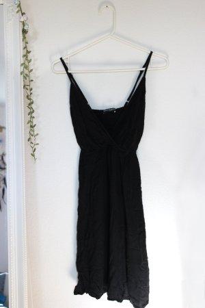 Schwarzes Mini Kleid Brandy Melville V-Ausschnitt One Size 36 S