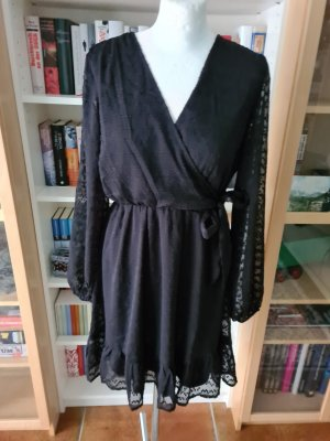 schwarzes Minikleid Kleid Gr.40 Vila Langarm
