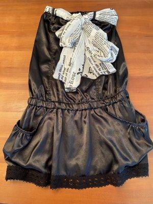 Schwarzes Minikleid mit Accessoire Denny Rose