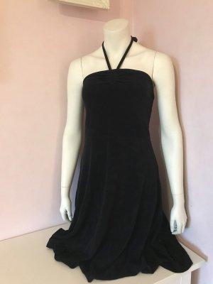 Schwarzes Neckholder Kleid aus Frotteestoff von H&M