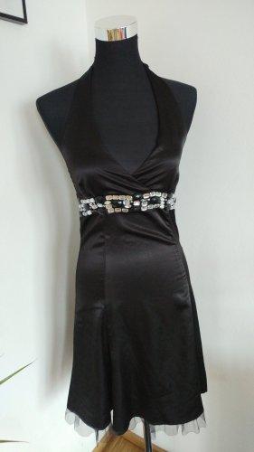 Vestido de cuello Halter negro